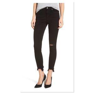 Leith Ripped Step Hem Skinny Jeans